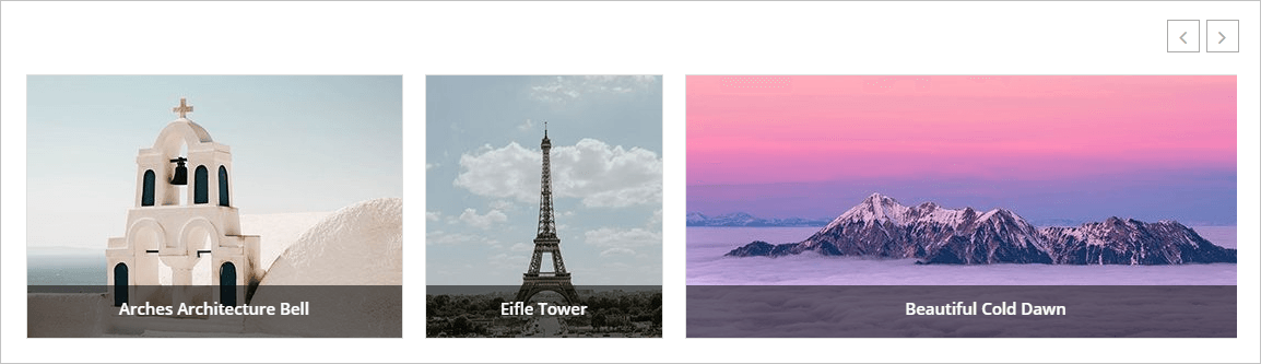 Variable Width Image Carousel